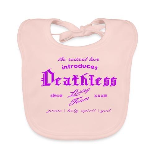 deathless living team violet - Baby Bio-Lätzchen
