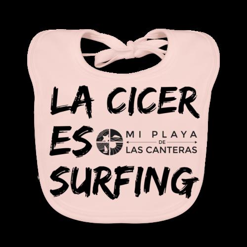 La Cicer es surfing - Babero ecológico bebé
