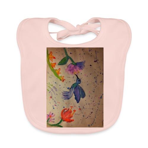Kolibrie & bloemen - Bio-slabbetje voor baby's