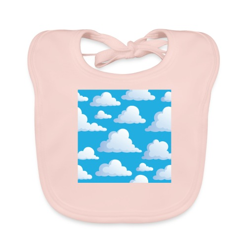 Cartoon_Clouds - Baby Organic Bib