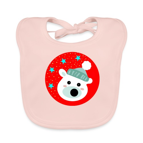 Winter bear - Baby Organic Bib