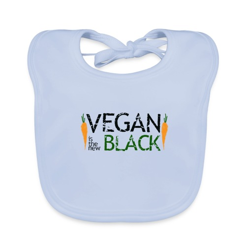 Vegan is the new black - Babero ecológico bebé