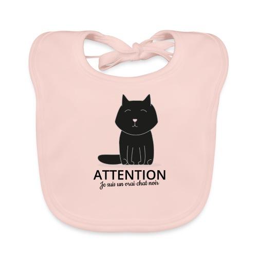 Chat noir - Bavoir bio Bébé