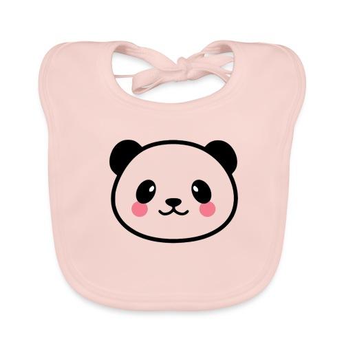 Panda Tout Rond - Bavoir bio Bébé