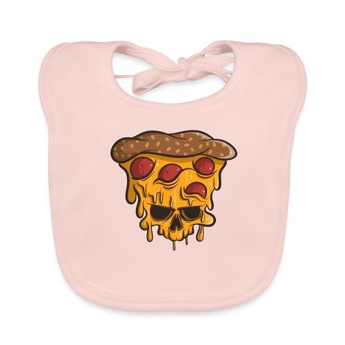 Zombie Halloween Pizza Skull - Baby Bio-Lätzchen