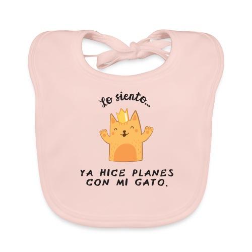 Planes con mi gato - Babero ecológico bebé
