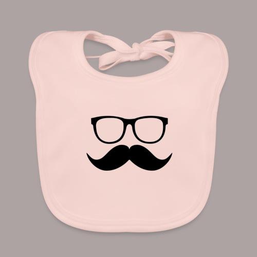 Mustache cases - Bio-slabbetje voor baby's