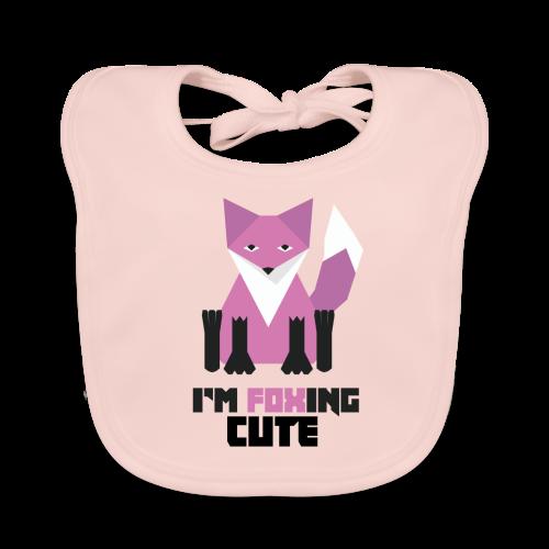 I'm Foxing Cute : Girl Edition - Bavoir bio Bébé