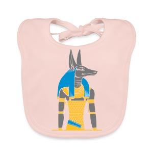 Der altägyptische Gott Anubis - Baby Bio-Lätzchen