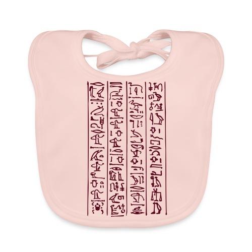 Hieroglyphen - Baby Bio-Lätzchen