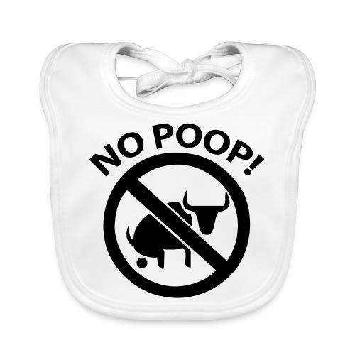 no poop - Ekologisk babyhaklapp