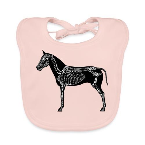 paard skelet - Bio-slabbetje voor baby's