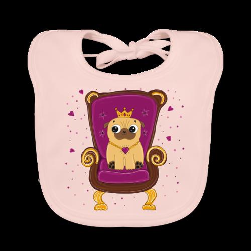 Frieda die Mopskönigin - Baby Bio-Lätzchen