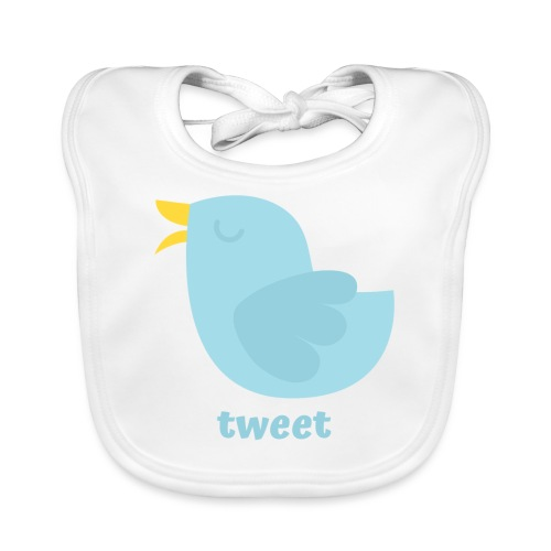 tweet - Baby økologisk hagesmæk