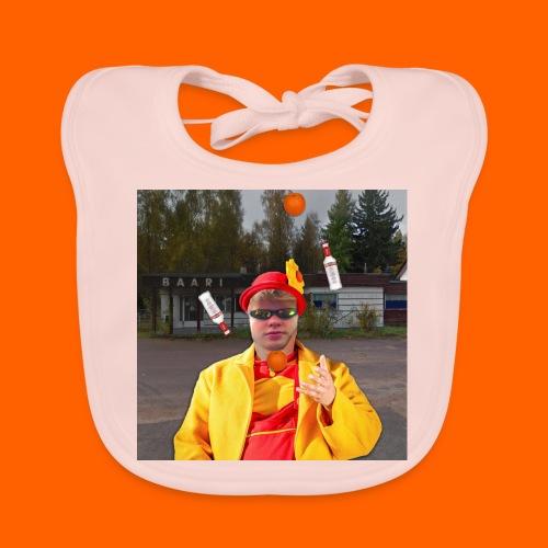 OrangeFullElmeri - Vauvan luomuruokalappu