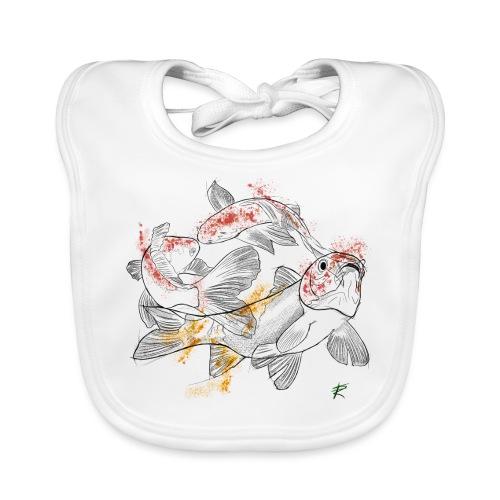 Carpa koi color - Bavaglino ecologico per neonato