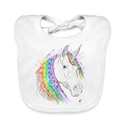 Unicorno - Bavaglino ecologico per neonato