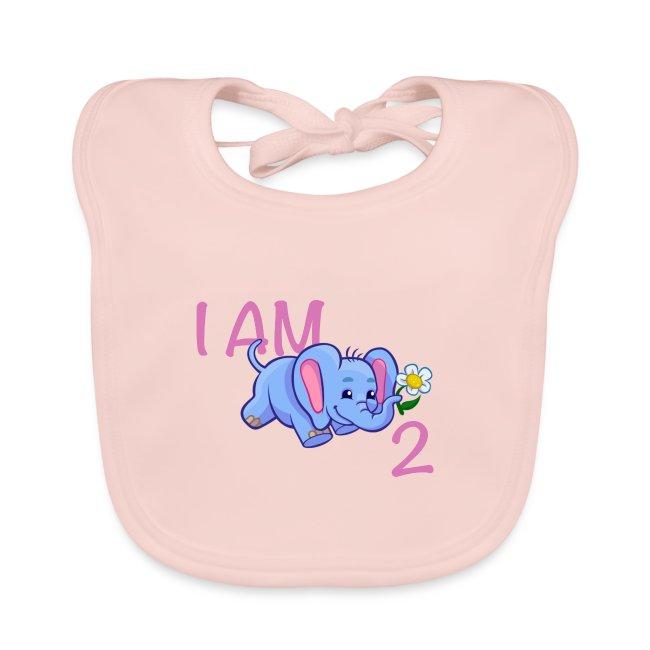 I am 2 - elephant pink