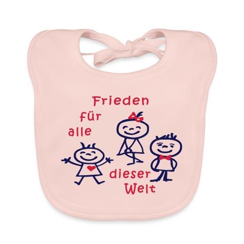 Kindertag, Childrens Day, Frieden - Baby Bio-Lätzchen