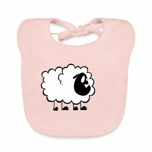 Pequeña Oveja - Babero de algodón orgánico para bebés