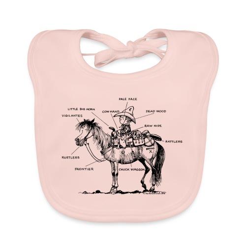 Thelwell Cartoon Bescheribung Westernpferd - Baby Bio-Lätzchen