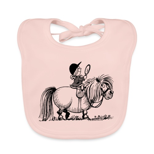 Thelwell - Penelope with a mirror - Organic Baby Bibs