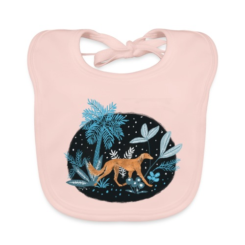 Saluki im Tropenwald - Baby Bio-Lätzchen