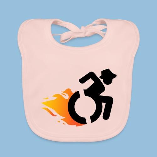Roller met vlammen 016 - Bio-slabbetje voor baby's