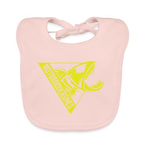 Logo Motoboquerones amarillo - Babero de algodón orgánico para bebés
