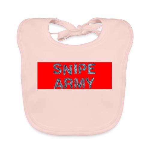 Snipe Army Box Logo - Baby Bio-Lätzchen
