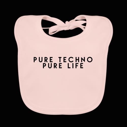 Pure Techno Pure Life Black - Baby Bio-Lätzchen