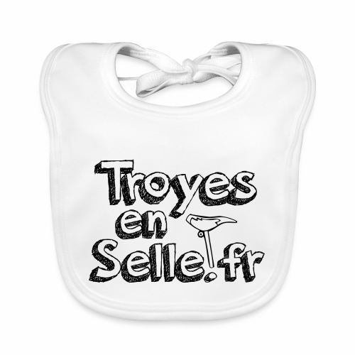 logo Troyes en Selle noir - Bavoir bio Bébé