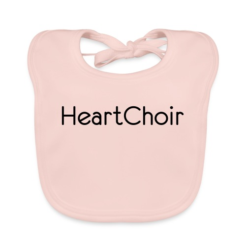 schriftzug heartchoir - Baby Bio-Lätzchen