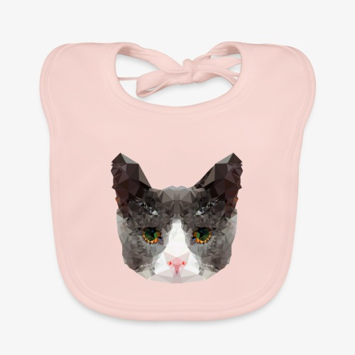 Triangle Cat - Baby Organic Bib