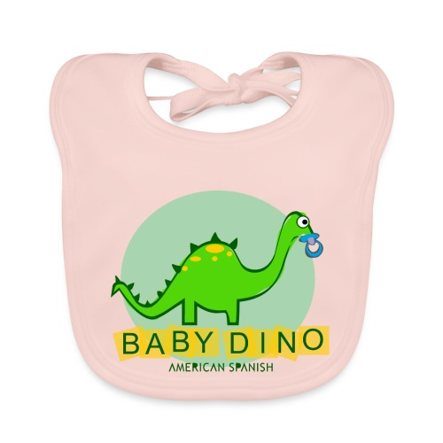 American Spanish Baby Dino - Babero ecológico bebé