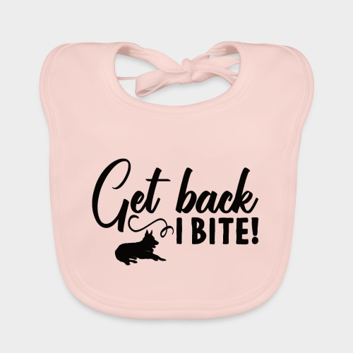 GET BACK I BITE! Hunde - Baby Bio-Lätzchen