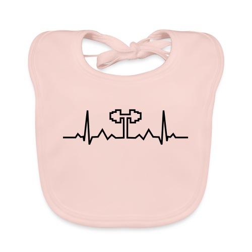 Herzschlag-Hantel, Bodybuilding, Crossfit, Fitness - Baby Bio-Lätzchen