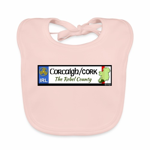 CO. CORK, IRELAND: licence plate tag style decal - Baby Organic Bib