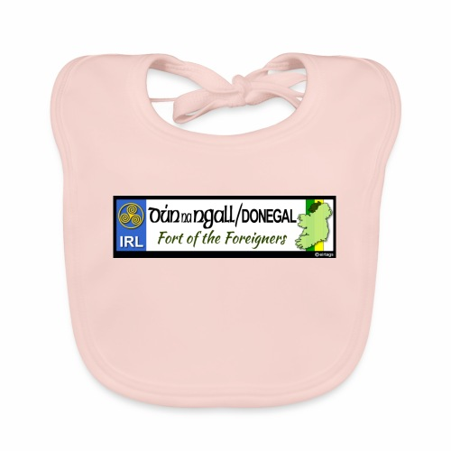 DONEGAL, IRELAND: licence plate tag style decal - Baby Organic Bib