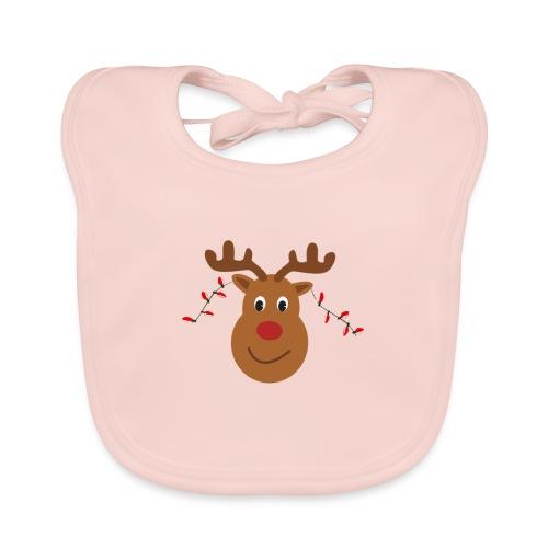 Christmas reindeer - Bio-slabbetje voor baby's