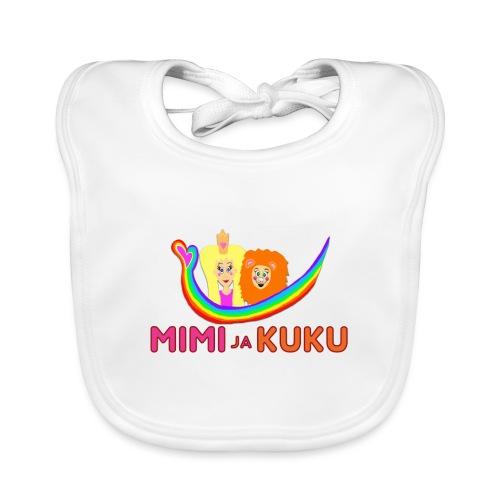 Mimi ja Kuku- sateenkaarilogolla - Vauvan ruokalappu