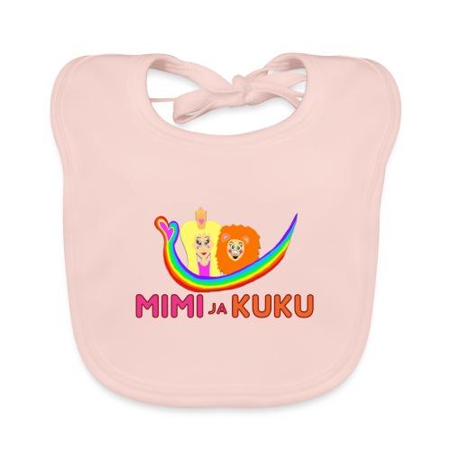 Mimi ja Kuku- sateenkaarilogolla - Vauvan luomuruokalappu