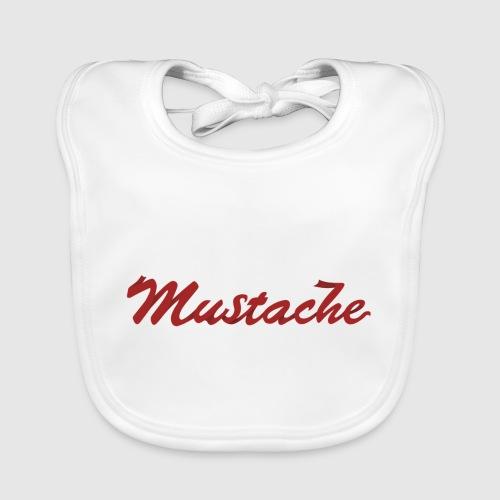 Red Mustache Lettering - Baby Organic Bib