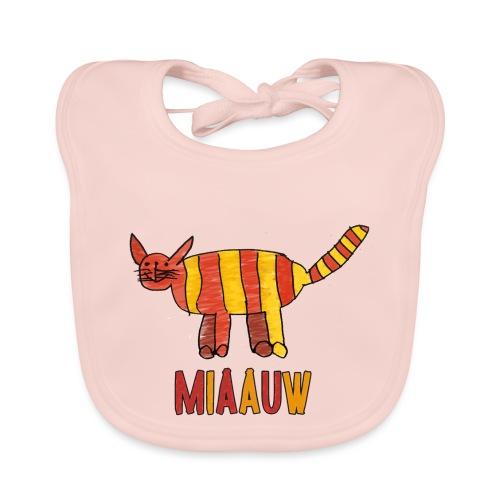 miaauw poesje - Bio-slabbetje voor baby's