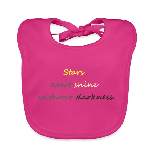 Stars can not shine without darkness - Organic Baby Bibs