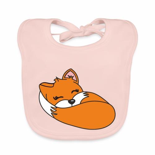 Fuchs schlafend - Baby Bio-Lätzchen