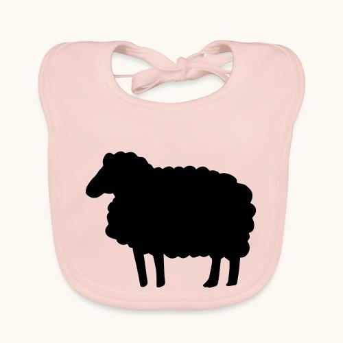 Farbe anpassbar Lustiges Schaf Silhouette Geschenk - Bavoir bio Bébé
