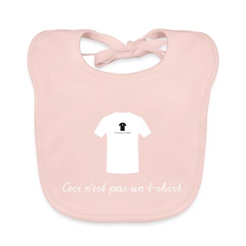 Ceci n'est pas un t-shirt. - Baby Bio-Lätzchen