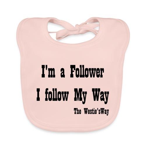I follow My Way Black - Ekologiczny śliniaczek