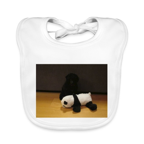 Maggie och pandan - Ekologisk babyhaklapp